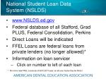 national student loan data system nslds