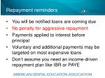 repayment reminders