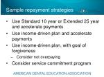 sample repayment strategies