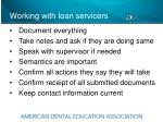 working with loan servicers