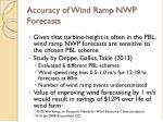 accuracy of wind ramp nwp forecasts2