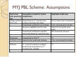 myj pbl scheme assumptions