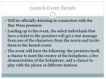 launch event details