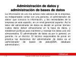 administraci n de datos y administraci n de bases de datos