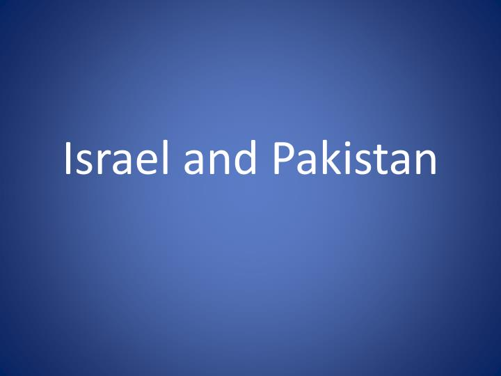 israel and pakistan n.