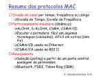 resumo dos protocolos mac