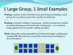 1 large group 1 small examples