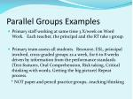 parallel groups examples