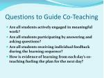 questions to guide co teaching