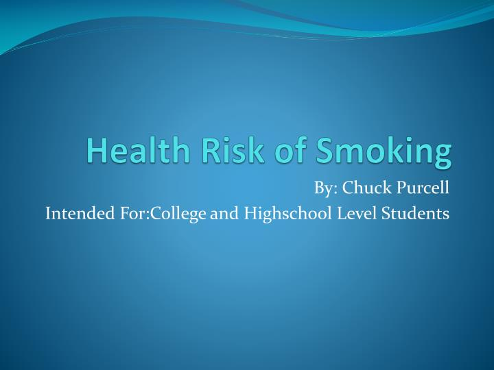 health risk of smoking n.