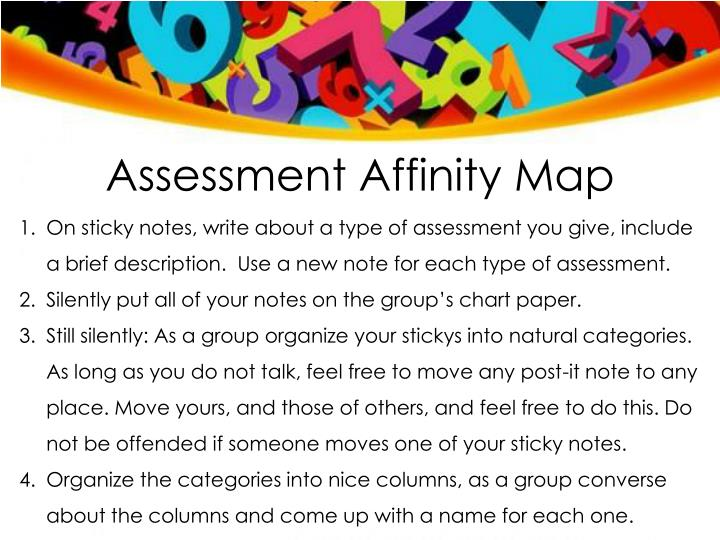 Assessment Affinity Map