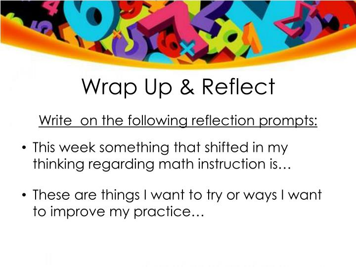 Wrap Up & Reflect