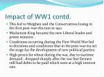impact of ww1 contd