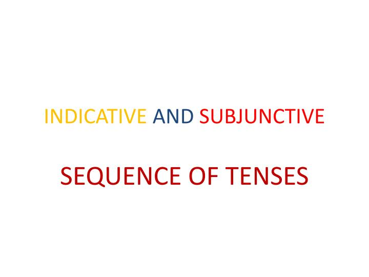 indicative and subjunctive n.