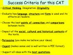 success criteria for this cat