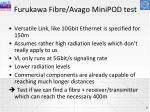 furukawa fibre avago minipod test