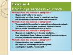 exercise 4 read the paragraphs in your book