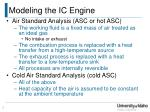 modeling the ic engine