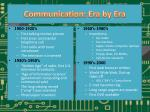 communication era by era