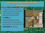 the history of communication introduction