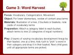 game 3 word harvest