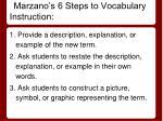 marzano s 6 steps to vocabulary instruction