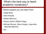 what s the best way to teach academic vocabulary