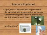 solutions continued