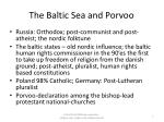 the baltic sea and porvoo