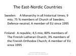 the east nordic countries