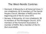 the west nordic contries
