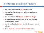 4 installeer een plugin apps