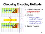 choosing encoding methods