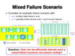 mixed failure scenario