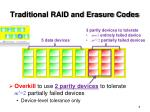 traditional raid and erasure codes