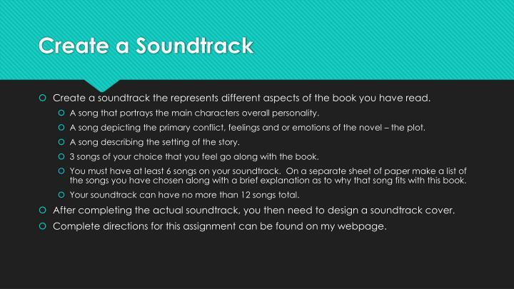 Create a Soundtrack