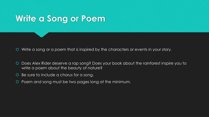 Write a song or poem