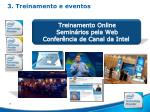 3 treinamento e eventos