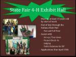 state fair 4 h exhibit hall
