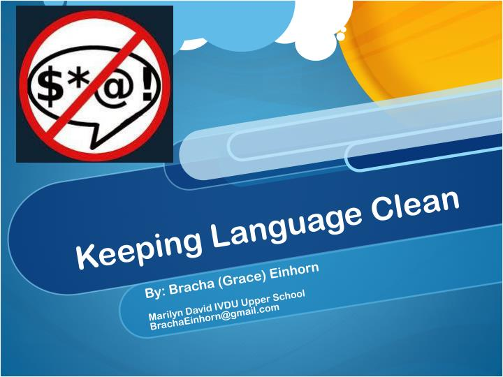 keeping language clean n.