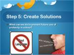 step 5 create solutions