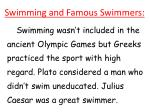 swimming and famous swimmers