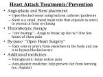 heart attack treatments prevention