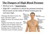 the dangers of high blood pressure