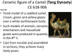 ceramic figure of a camel tang dynasty ce 618 906