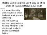 marble camels on the spirit way to ming tombs of nanjing ming 1369 1644
