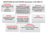 northern southern dynasties 219 580 ce