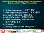 communication applications in golf course management