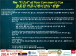the pitfall of poor communication
