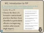 m1 introduction to fip